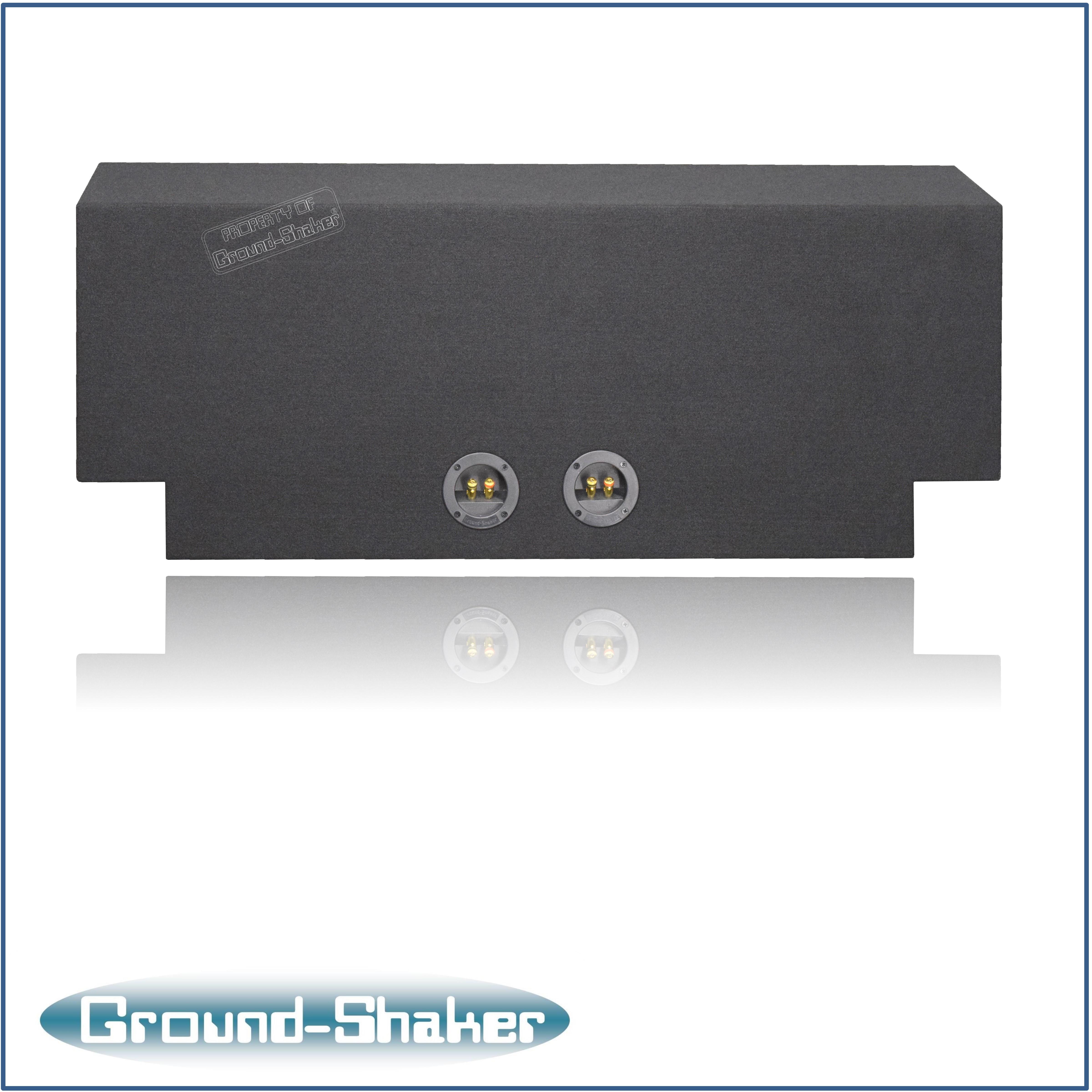 Black 10 Quot Dual Sealed Subwoofer Box Fits Dodge Charger