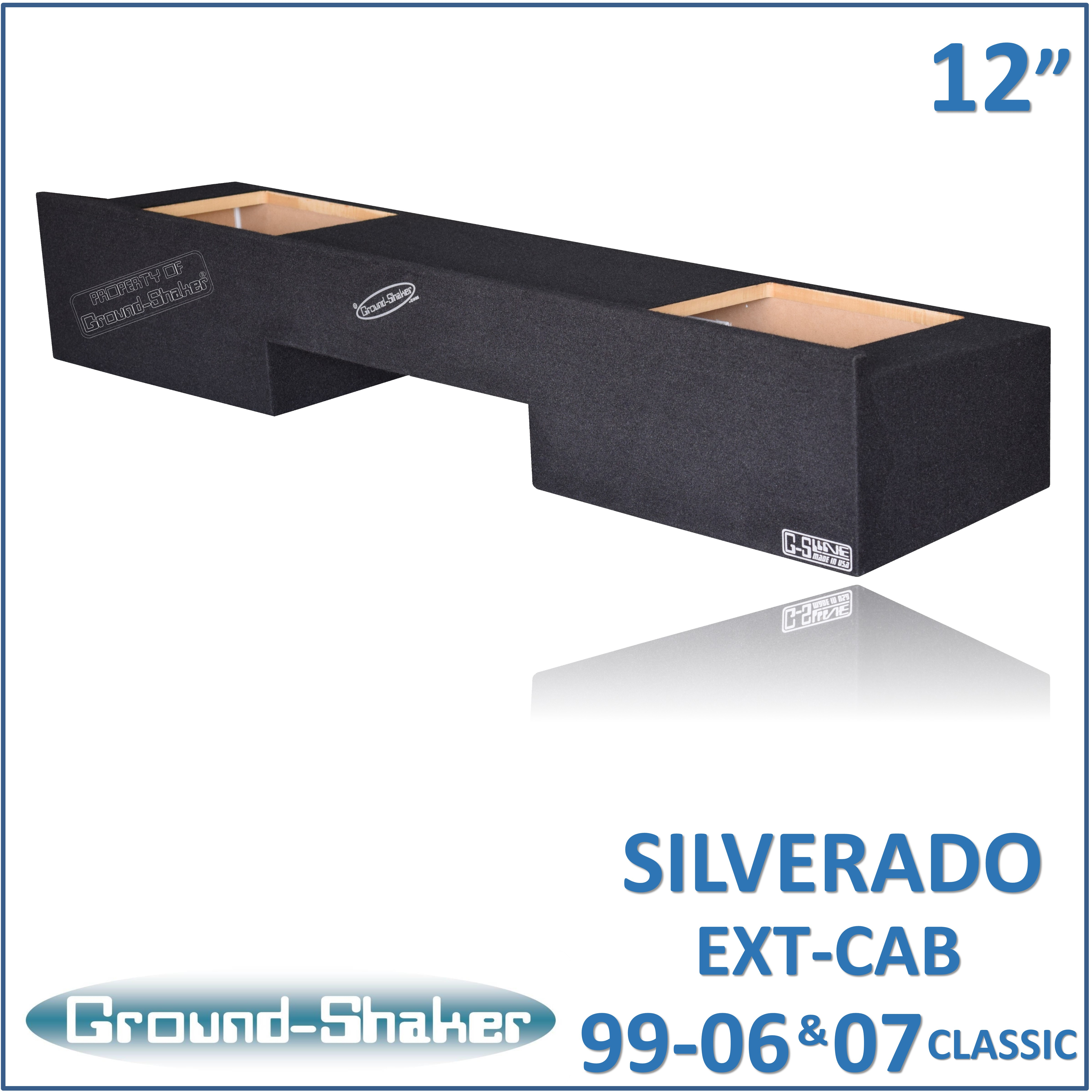 BLACK DUAL SEALED SOLOBARIC SUB BOX FITS CHEVY SILVERADO GMC - Silverado rectangular coffee table