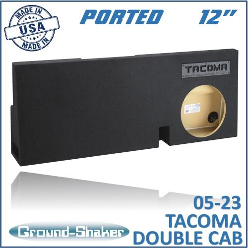 Fits Toyota Tacoma Double-Cab 2005-2018 12 Single Ported Subwoofer Enclosure